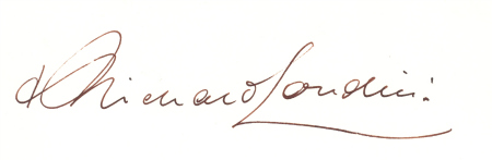 Bishop of London's signature